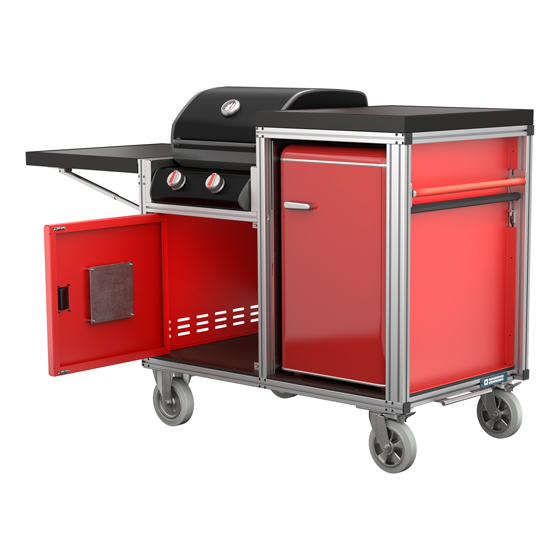 Rollcontainer Grill